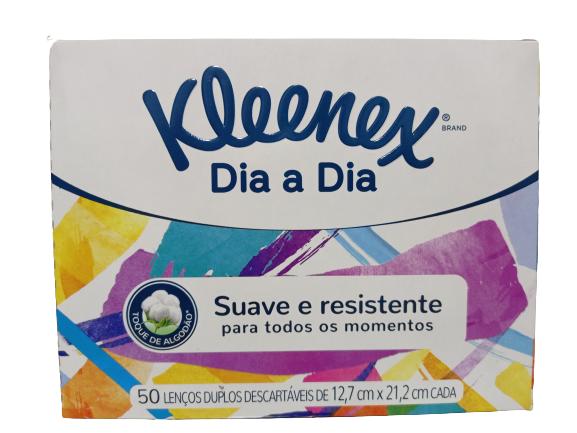 LENÇOS DE PAPEL KLEENEX DIA A DIA CAIXA COM 50 LENÇOS