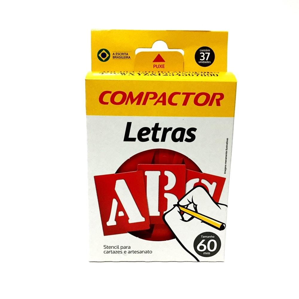 LETRAS VAZADAS ABC COMPACTOR 60MM