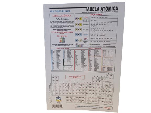 TABELA ATÔMICA VERSÃO ATUALIZADA- 44° EDIÇÃO
