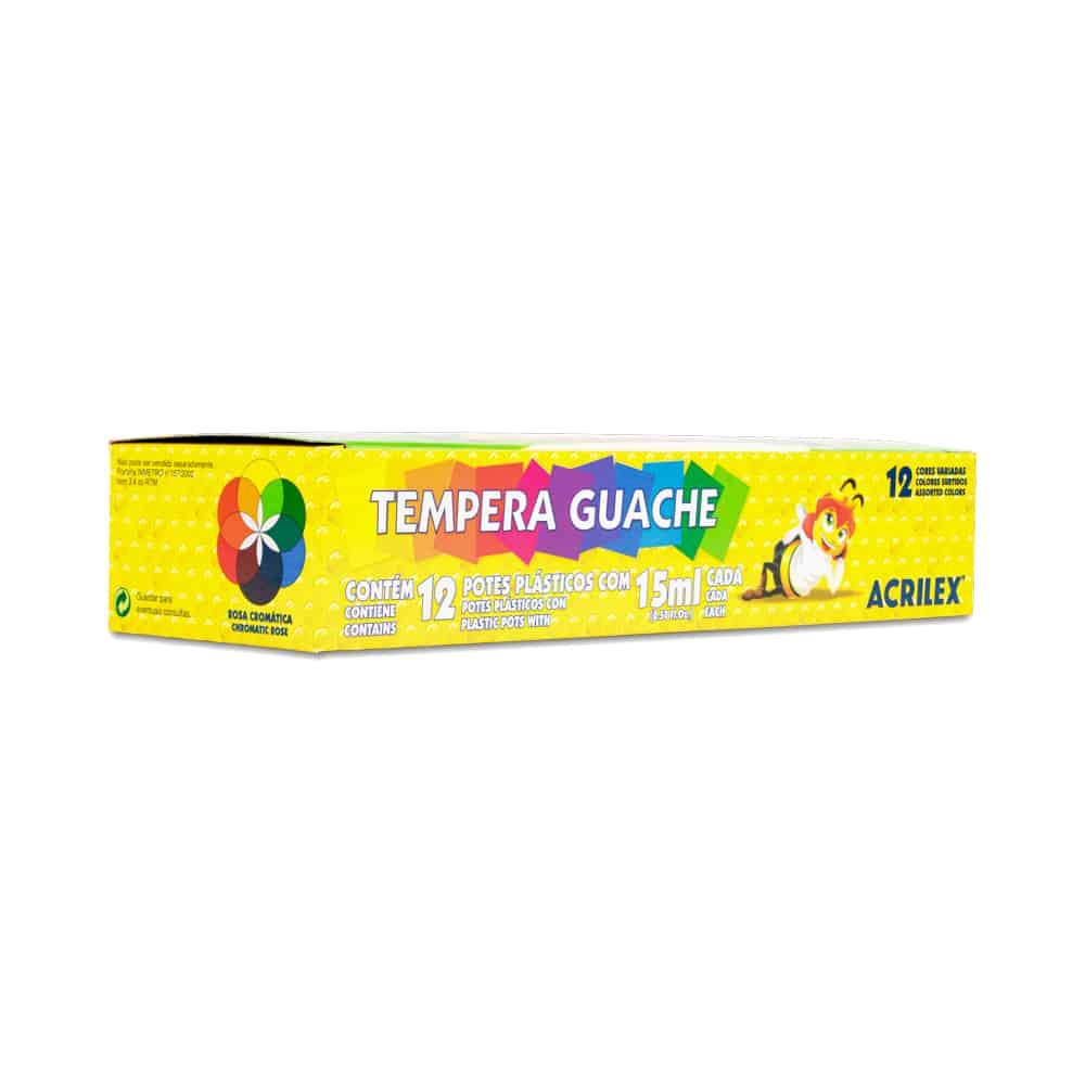 TINTA TEMPERA GUACHE ACRILEX ABELINHAS 12 CORES 15ml