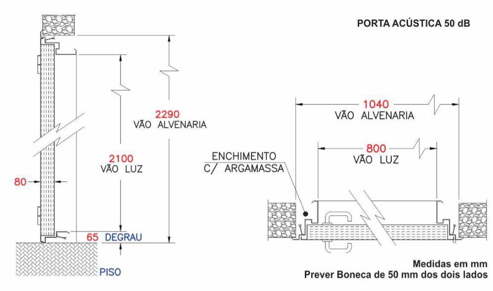 Porta Acústica Profissional 50 dB - Completa