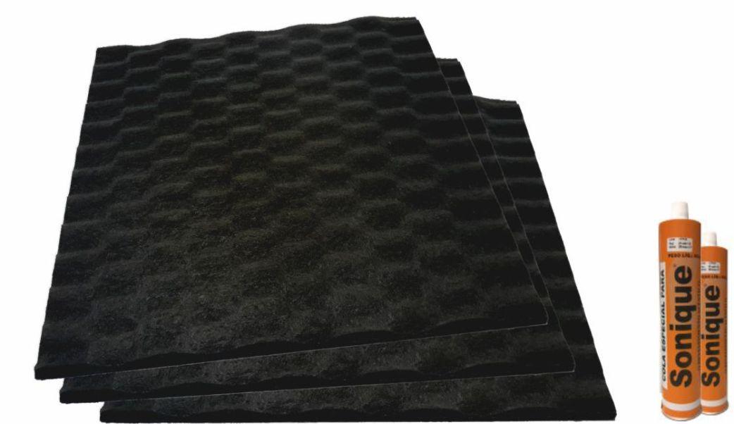 Revestimento Acustico Ecoline Wave 30/10 Natural - Kit