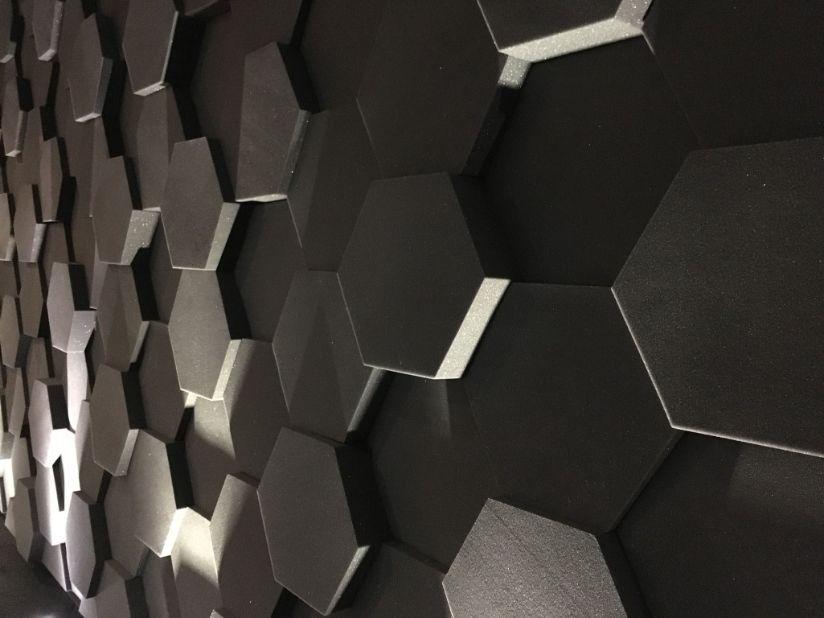 Espuma Acústica Hexagonal 50c - Kit