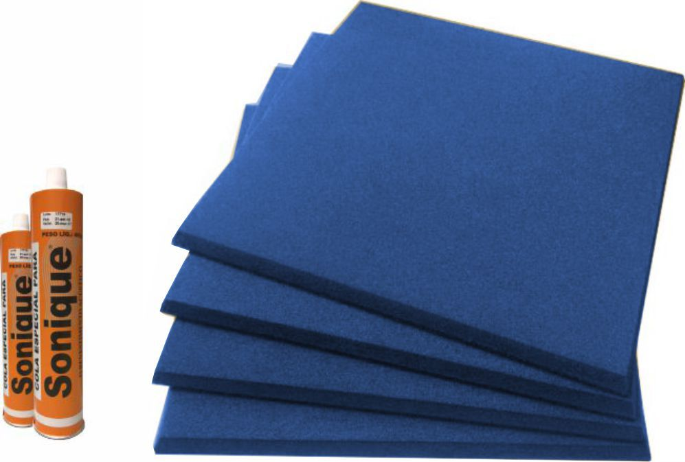 Espuma Acústica Lisa - Azul Marinho