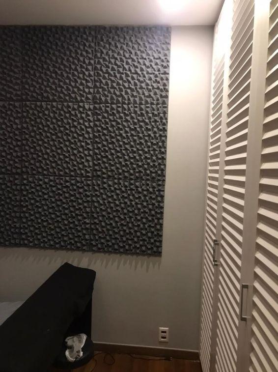 Espuma Acústica Sonique Abstract 30/15 Grafite - Kit