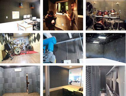 Espuma Acústica Sonique Wave 35/10 Grafite - Kit