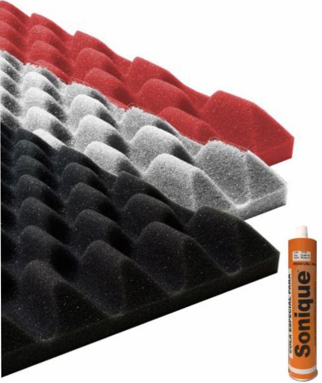 Espuma Acústica Sonique Wave 75/30 - kit