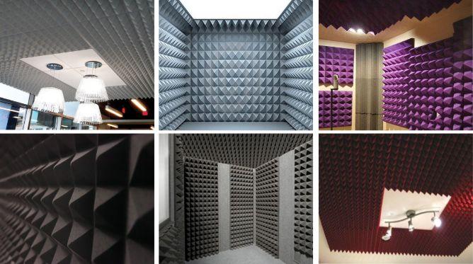 Pirâmide Anecóica Acústica Média - Kit