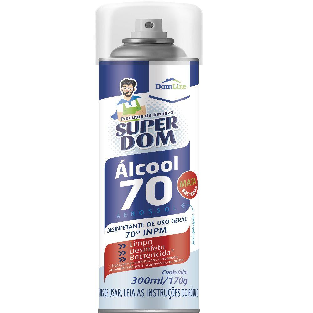 Álcool Aerosol Super Dom 70% 300Ml