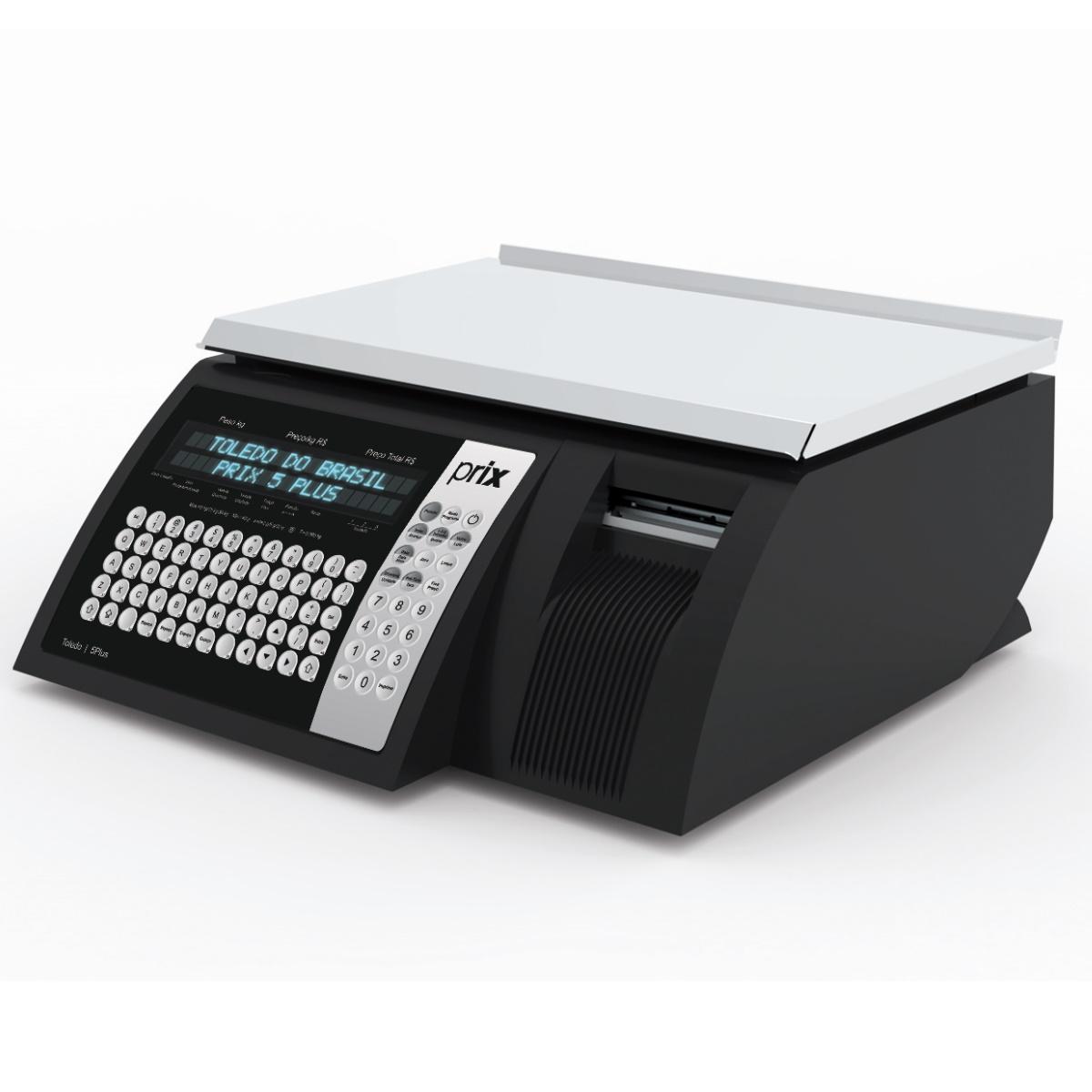 Balanca Eletronica Toledo Prix 5 Plus C/Impressor Wifi Preta