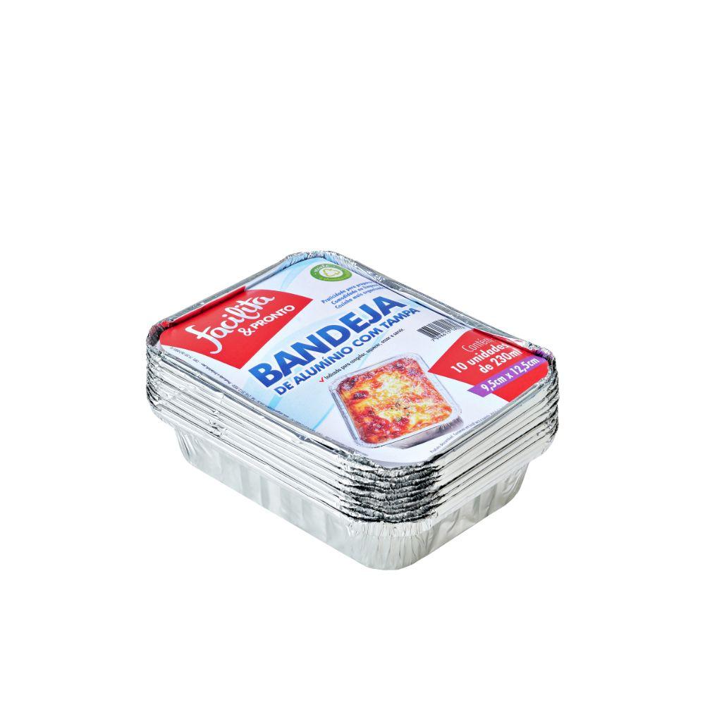 Bandeja Aluminio Facilita & Pronto 230ml C/10