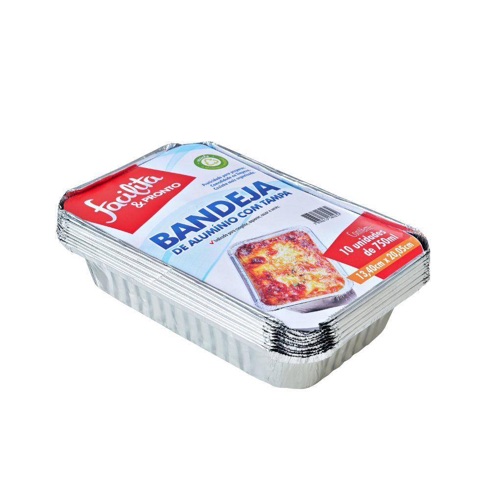 Bandeja Aluminio Facilita & Pronto 750ml C/10