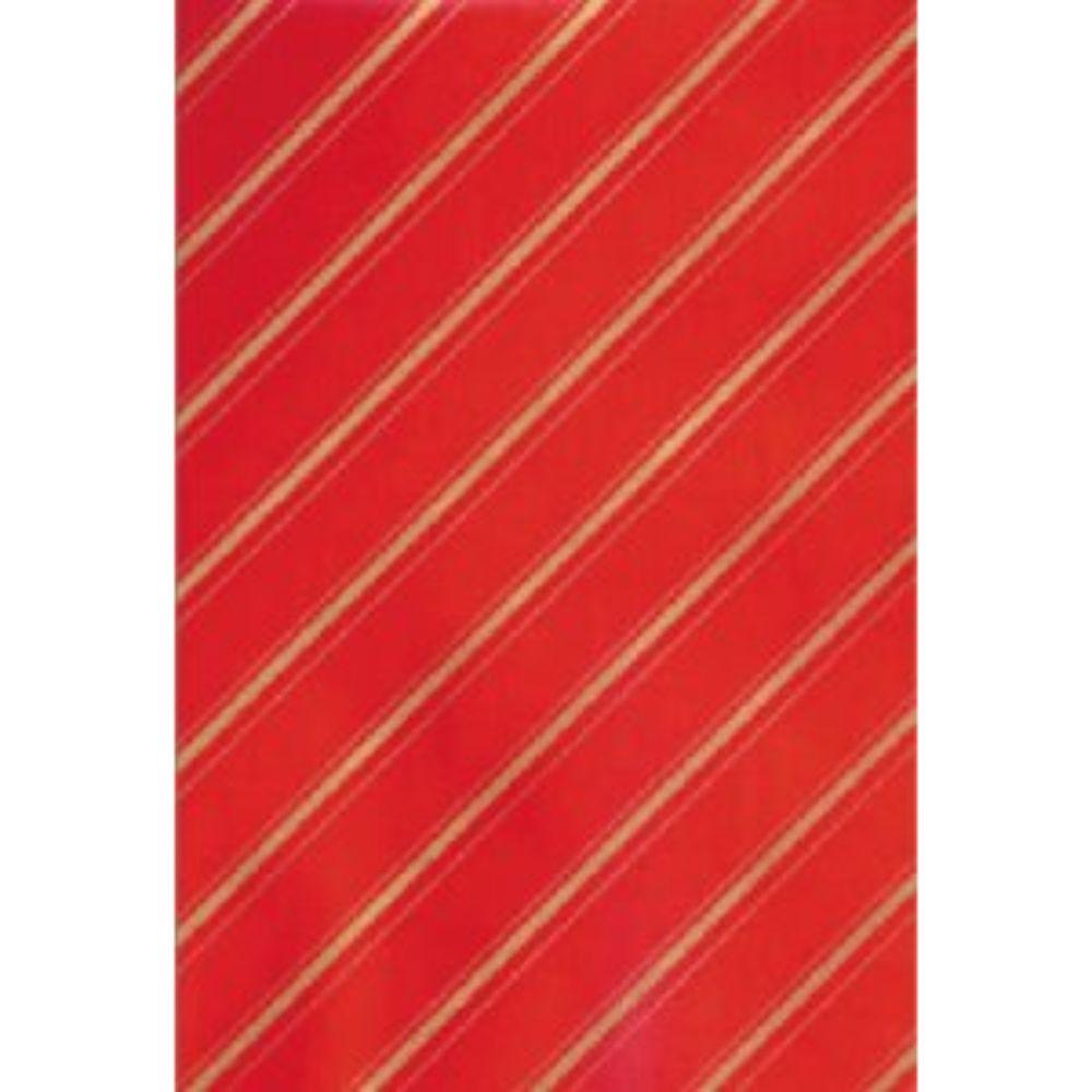 Bob Papel Couche 40cm Vermelho/Ouro 6kg C/200mts