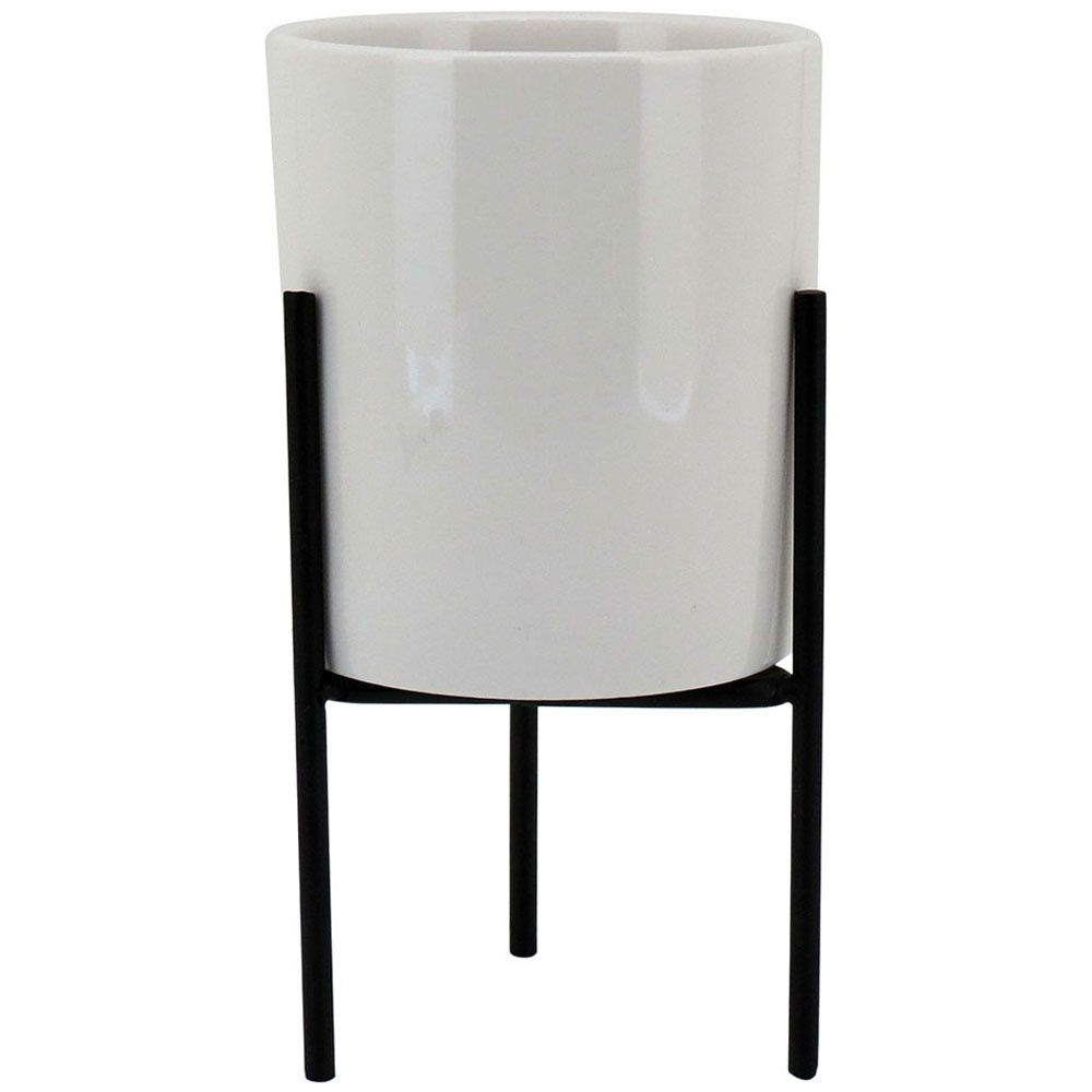 Cachepot Ceramica Sup/Branco Peq Urban