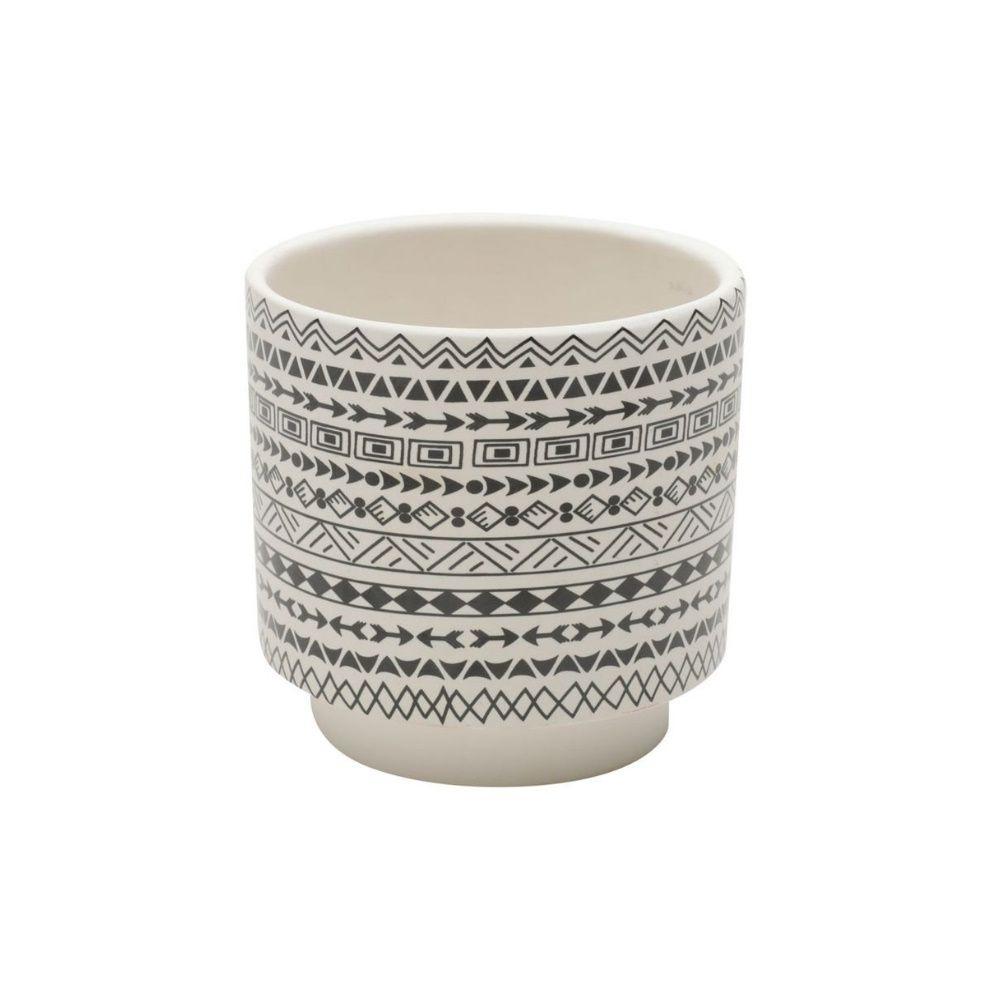 Cachepot Ceramica Tribal Branco Urban