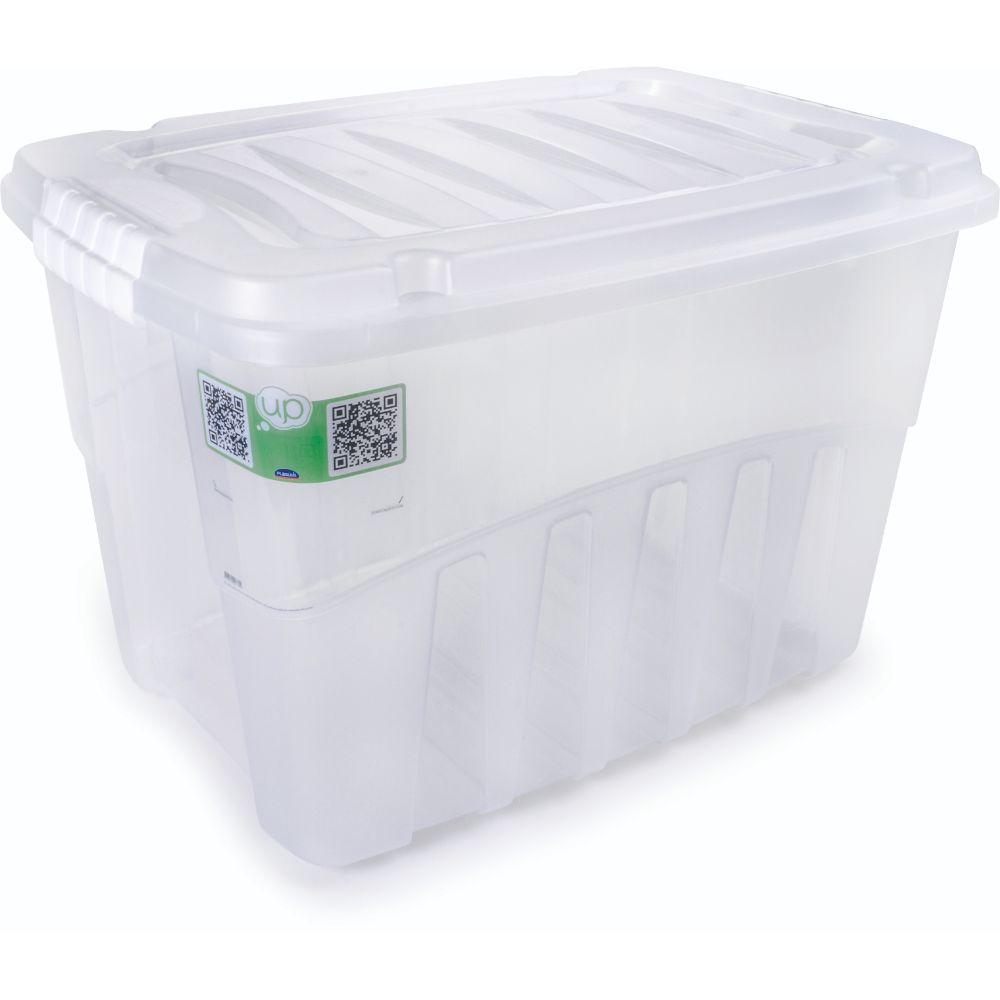 Caixa Gran Box Alta 56l Plasutil C/Tampa