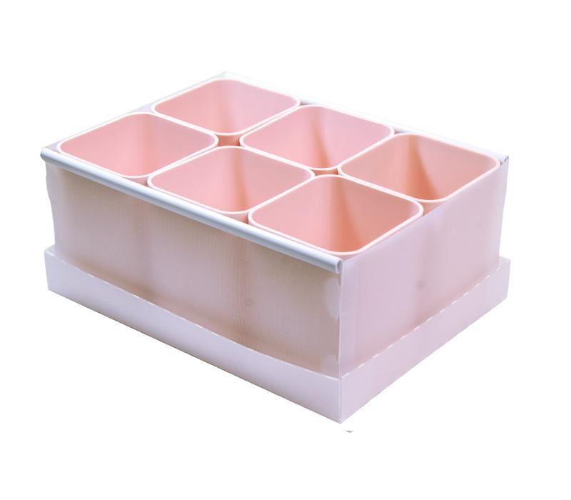 Caixa Organizadora Com 6 Pecas Rosa