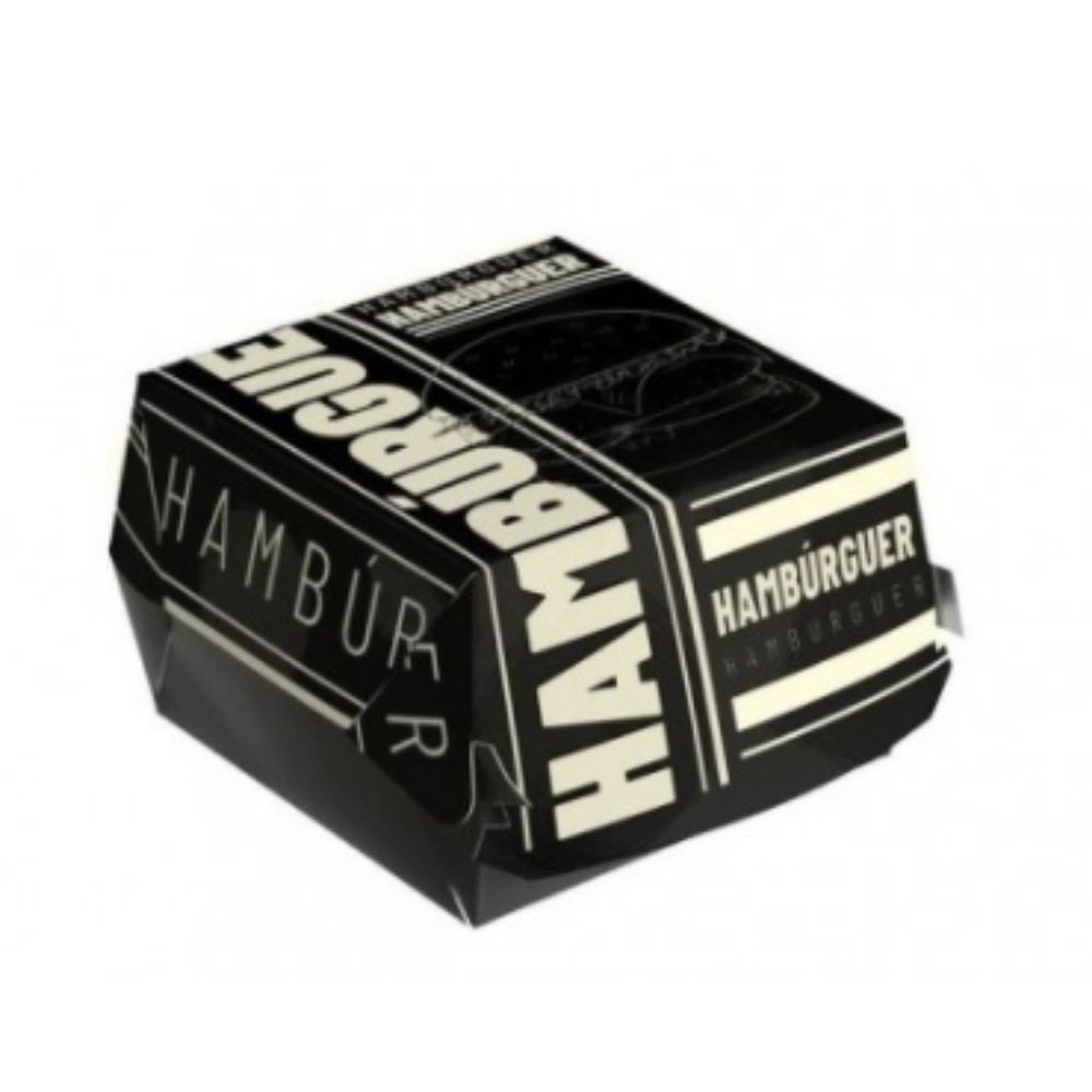 Caixa P/ Hamburguer Black C/50