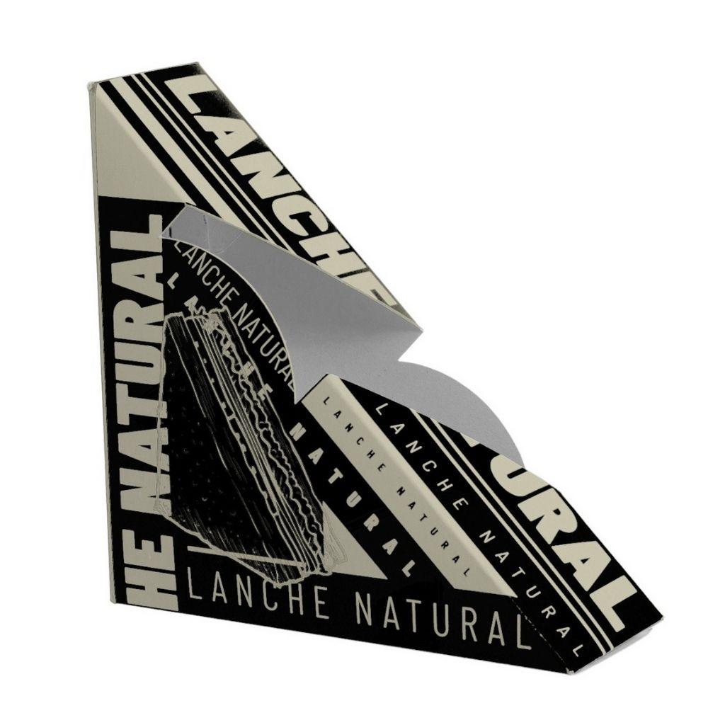 Caixa P/ Lanche Natural Black C/50