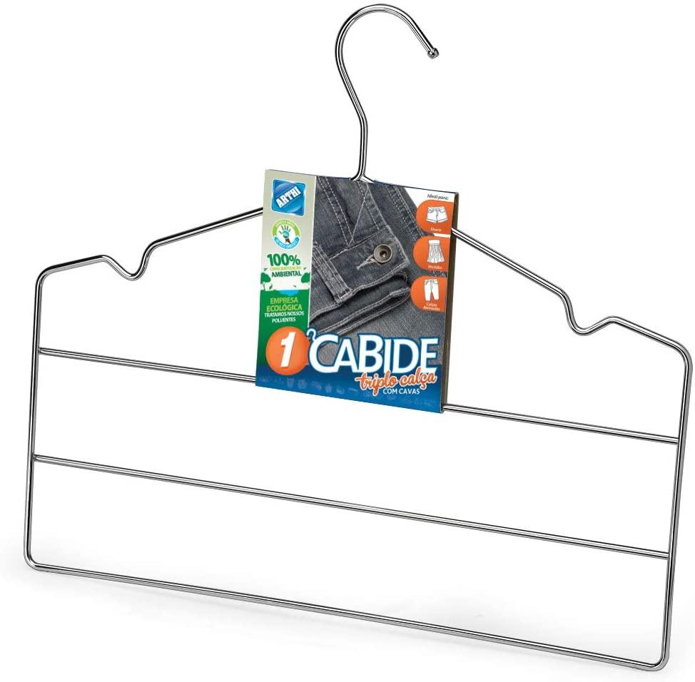 Conjunto C/ 3 Cabides Calca Cromado Arthi