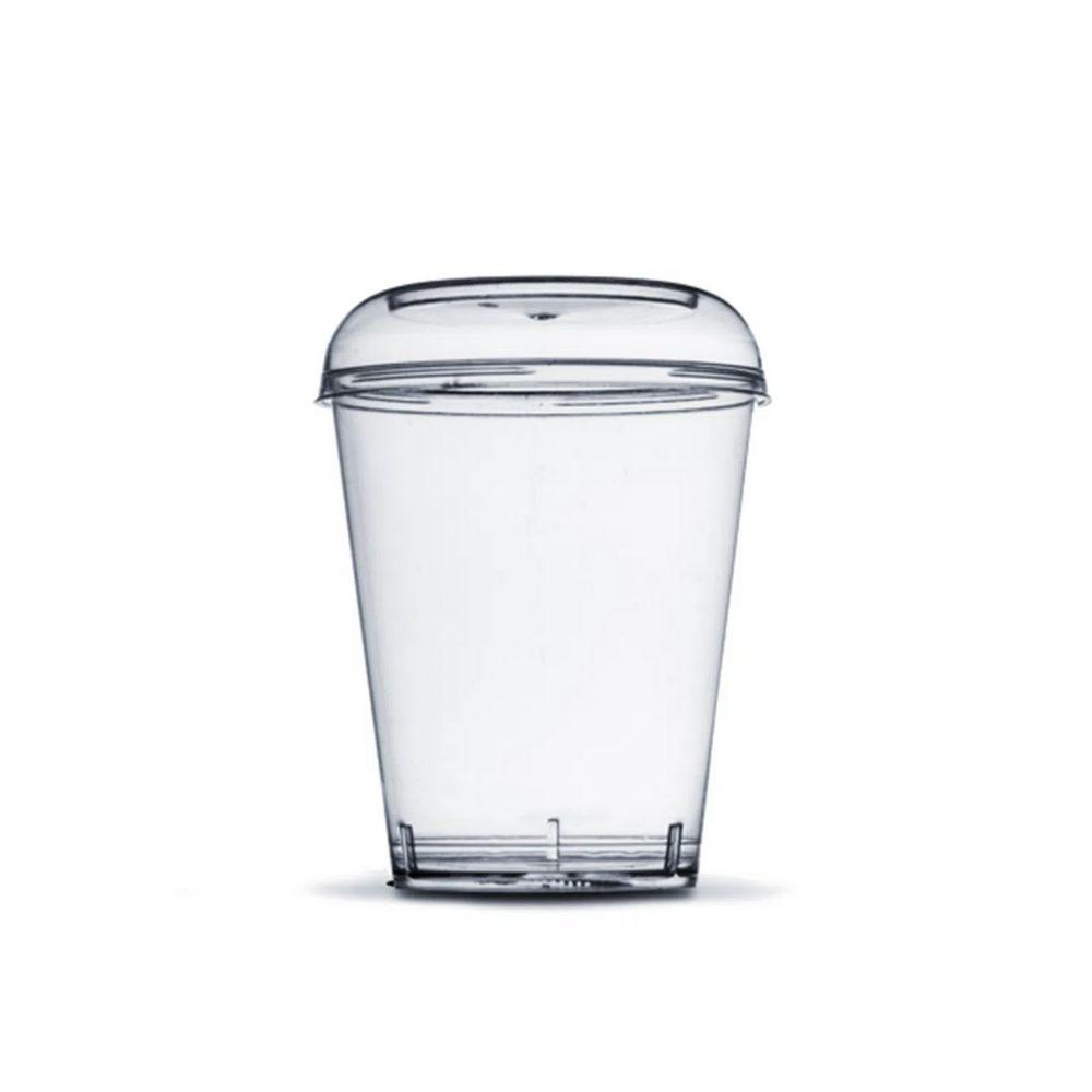 Copo Com Tampa Acrilico Cristal 40ml C/10