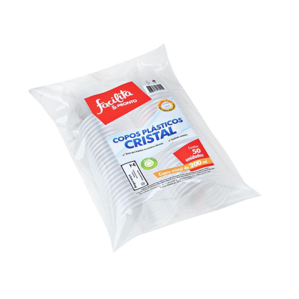 Copo Cristal Facilita & Pronto 200 Ml Transp. C/50