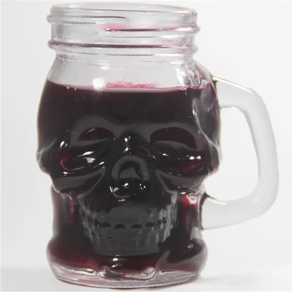 Copo Dose Vidro Skull Head Urban
