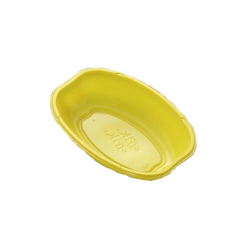 Cumbuca Plastica Oval C/10 Amarelo