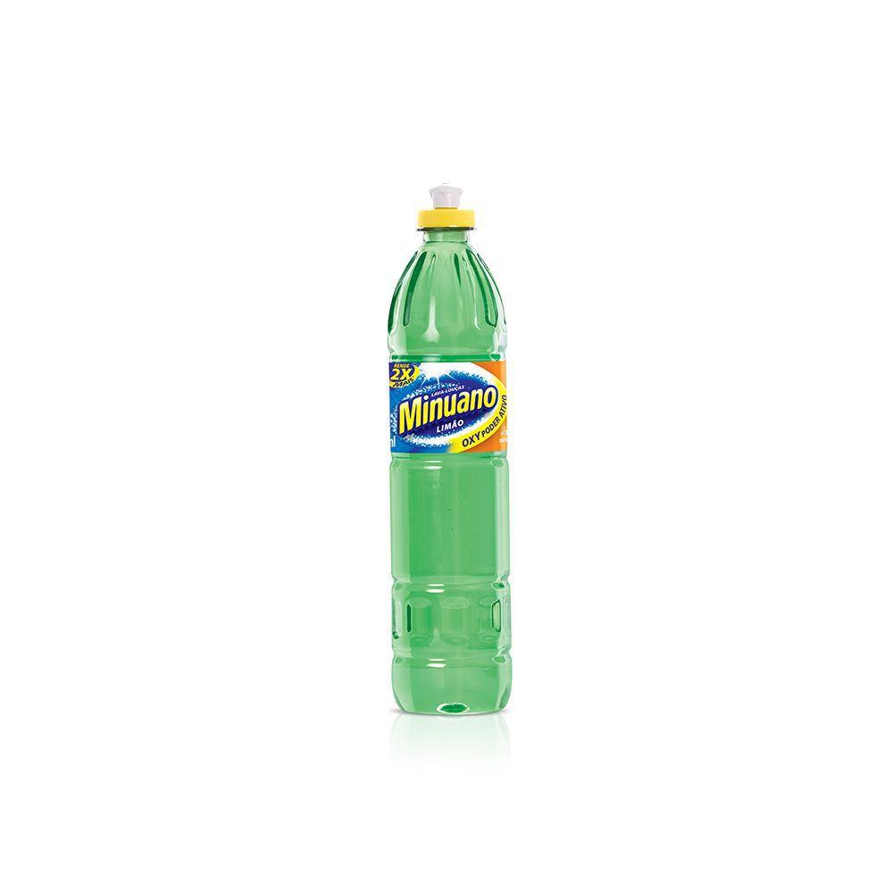 Detergente Líquido Minuano 500Ml Limao