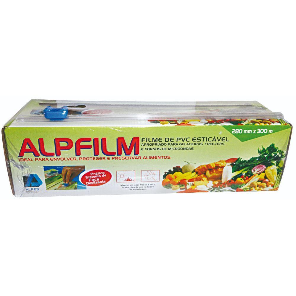 Filme Pvc Alpfilm 28 X 300 Mts C/Trilho 8,5 Mc