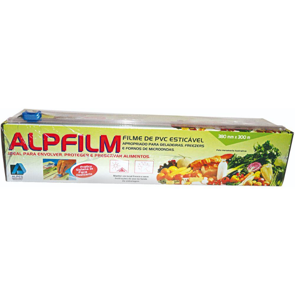 Filme Pvc Alpfilm 38x300 Mts C/Trilho 8,5 Mc