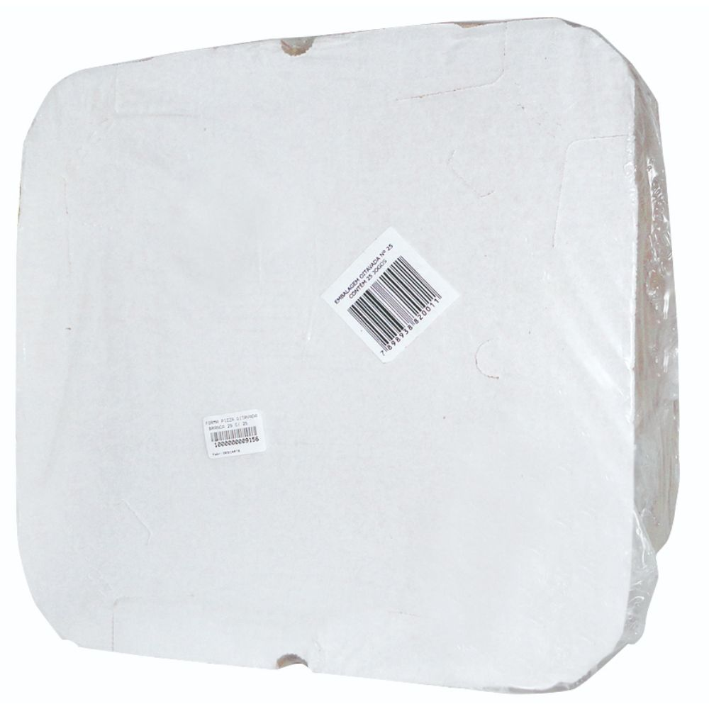 Forma Pizza Oitavada Branca 25 C/ 25