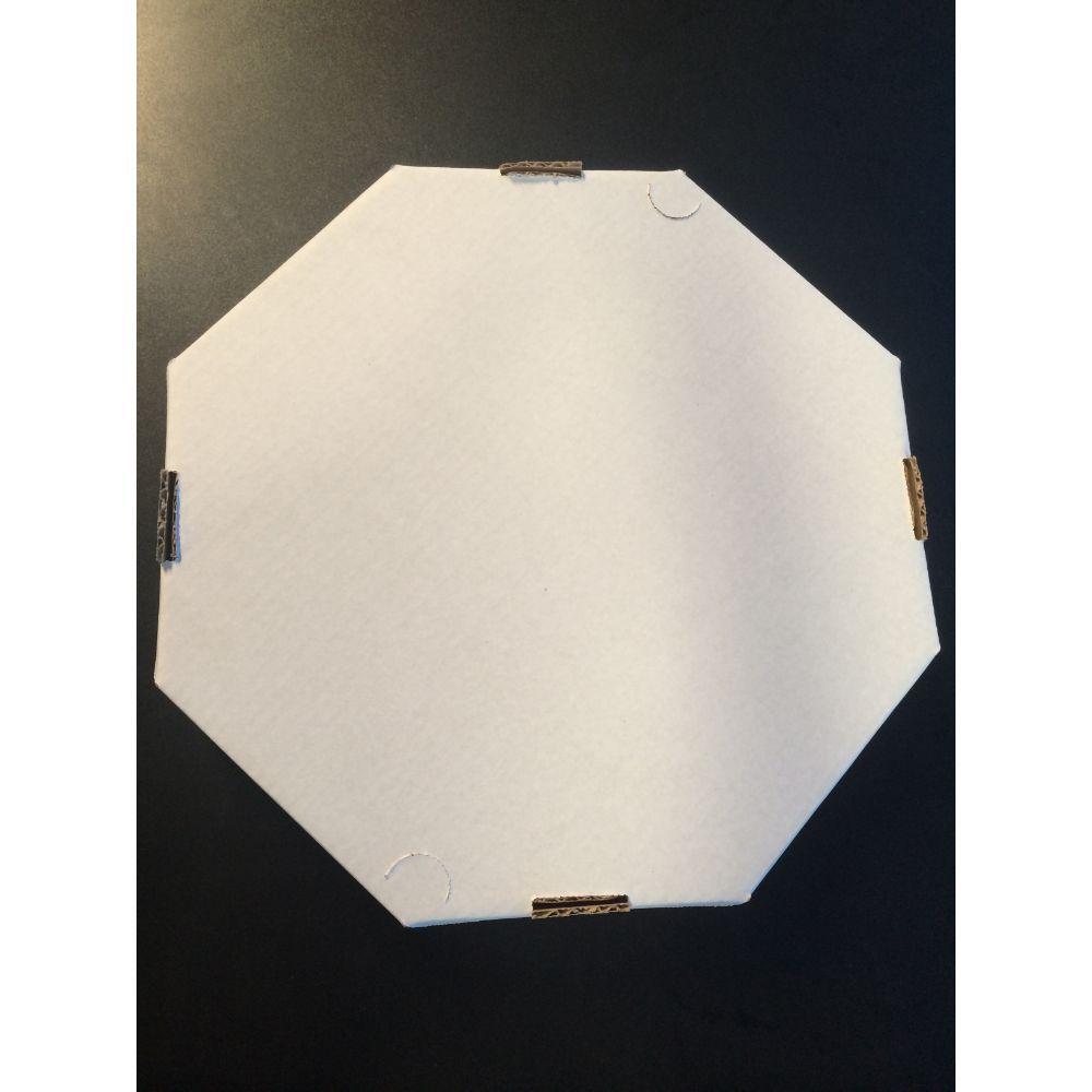 Forma Pizza Oitavada Branca 35 C| 25 Un