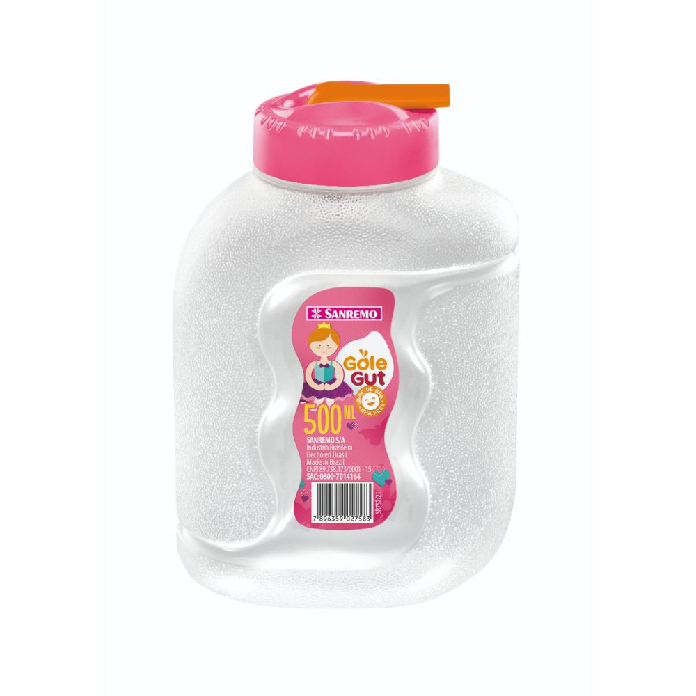 Garrafa Gole Gut Plastico 500ml Rosa