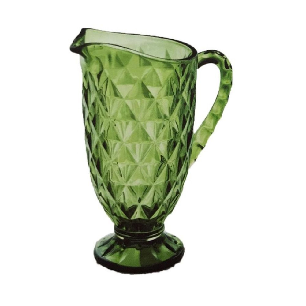 Jarra Amber Verre Verde Vitral Mimo Style