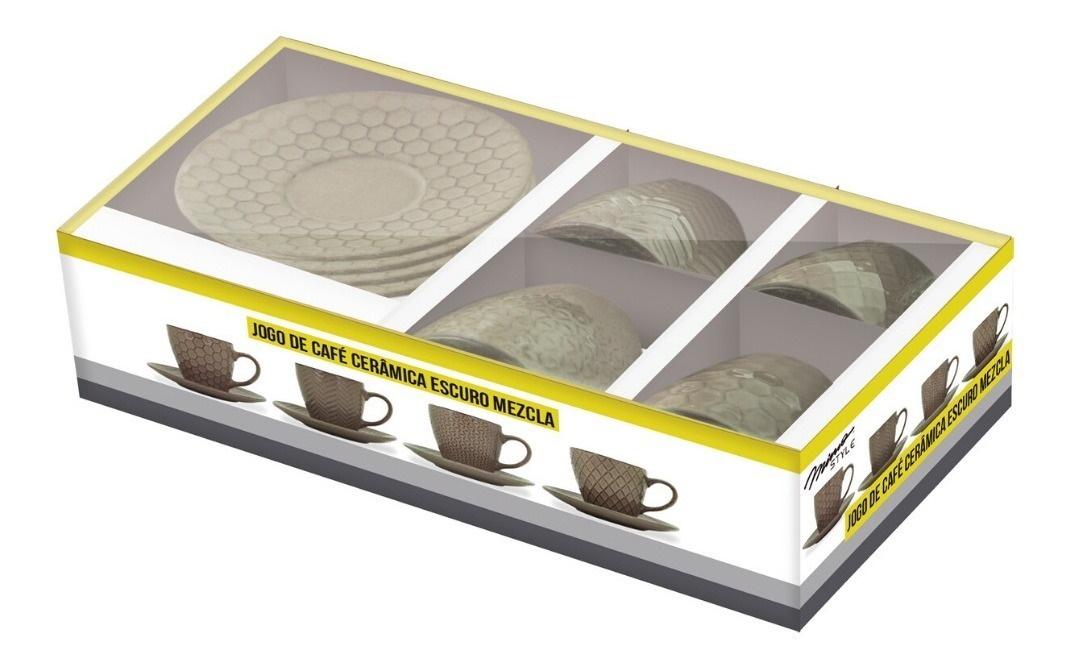 Jg De Cafe Ceramica Escuro Mezcla Mimo Style