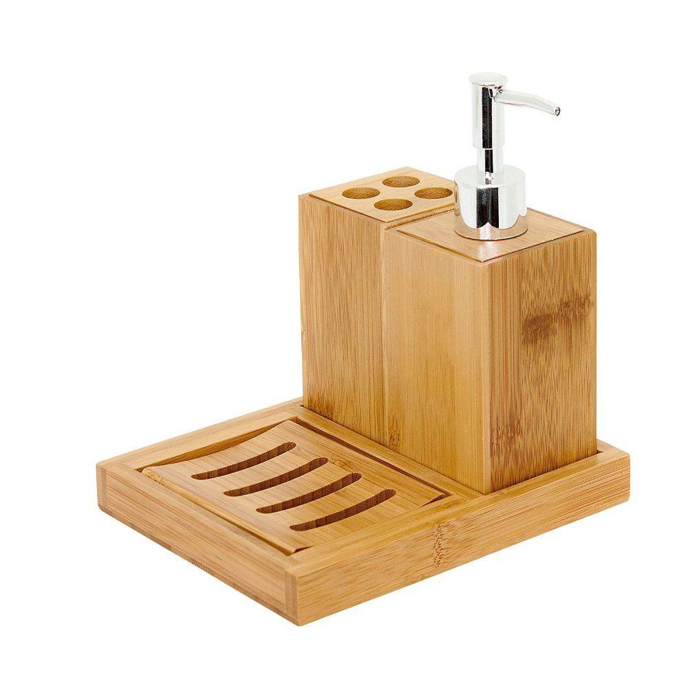 Kit Para Banheiro 4 Peças Ecokitc Mimo Style