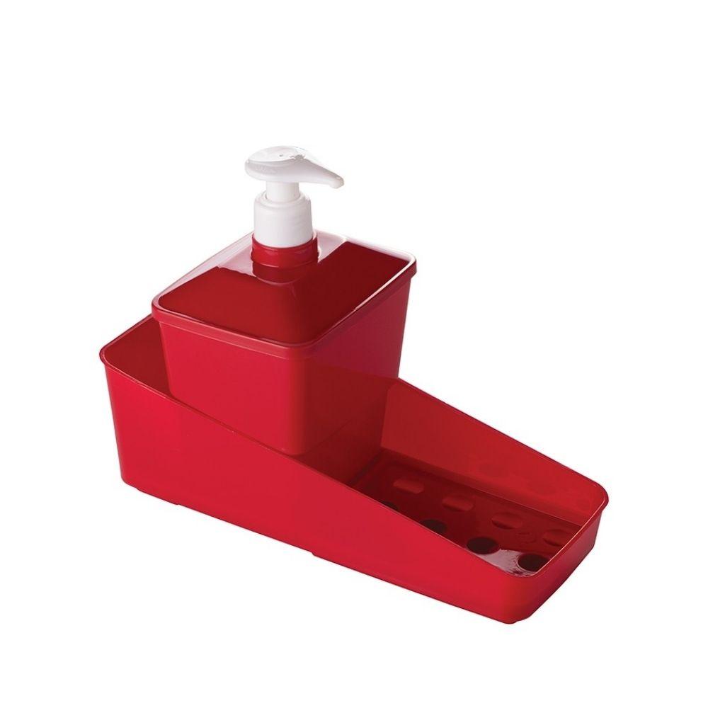 Kit Porta Detergente Quadrado Vermelho