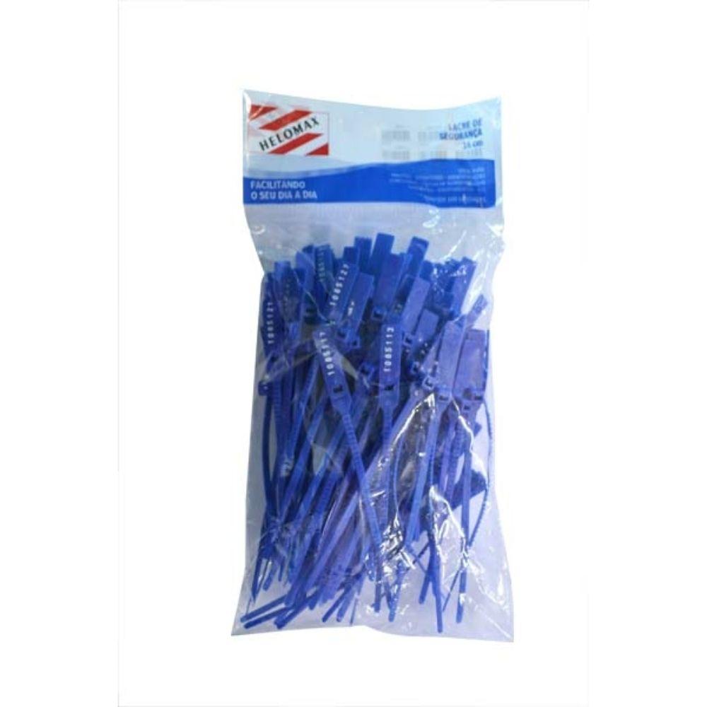 Lacre Numerado 16cm Helomax C/100 Azul