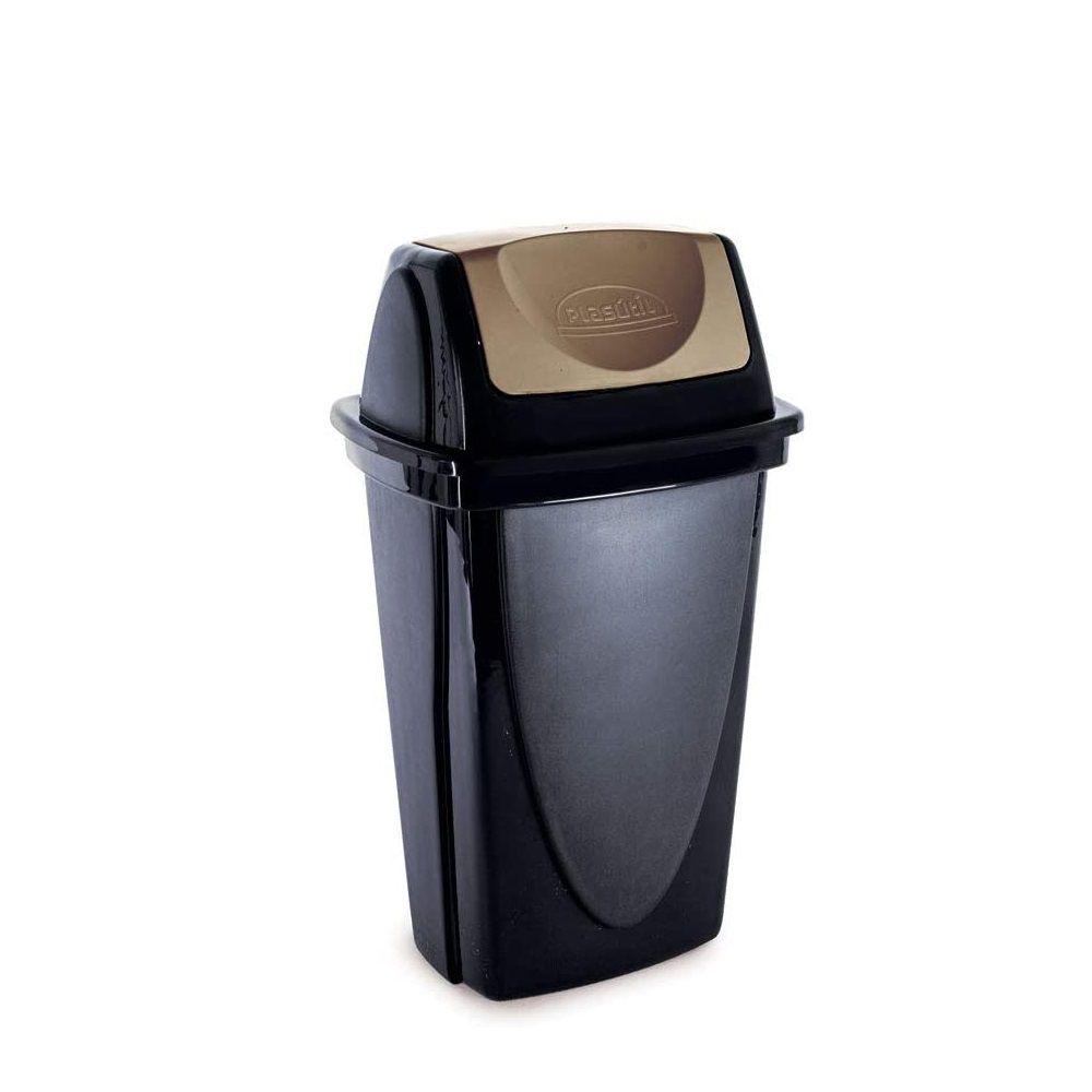 Lixeira Basculante 14Lt Ecoblack Plasutil