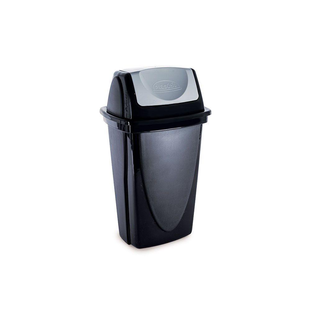Lixeira Basculante 9Lt Ecoblack Plasutil