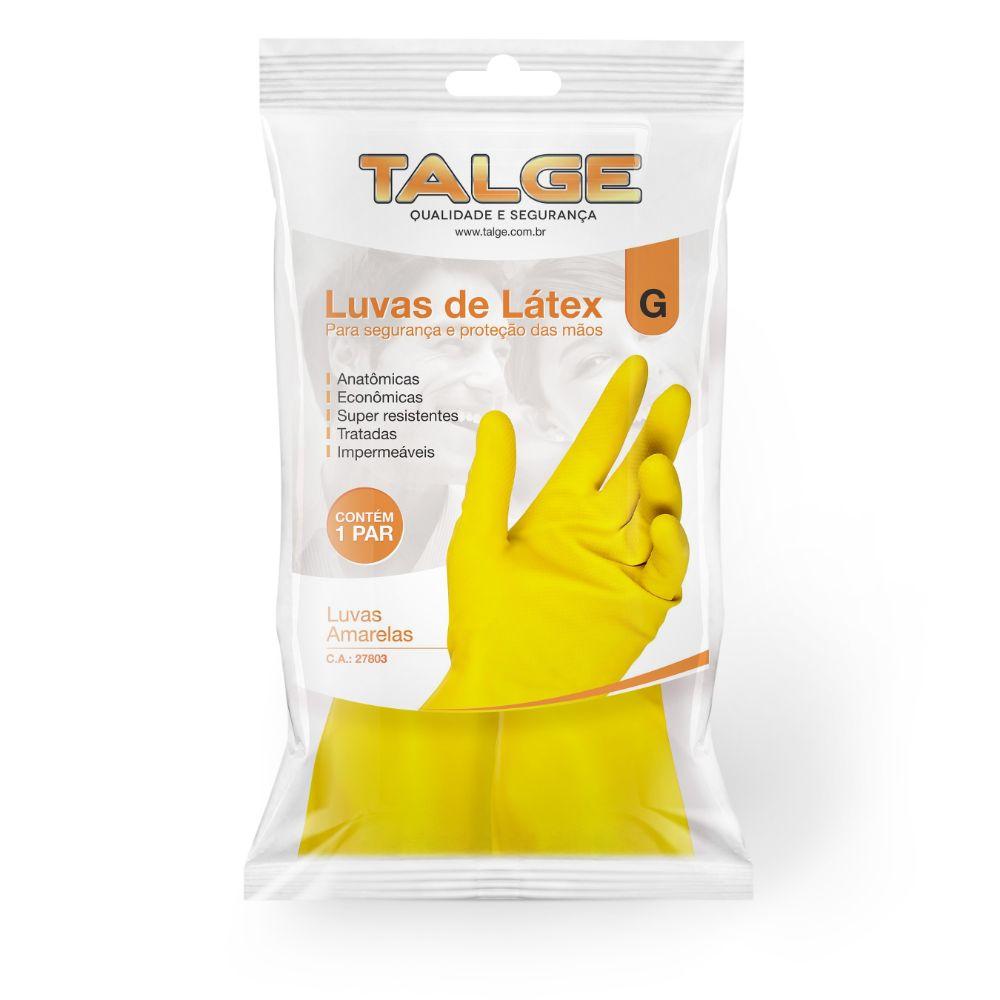 Luva Forrada Talge Amarela Grande C/1 Par