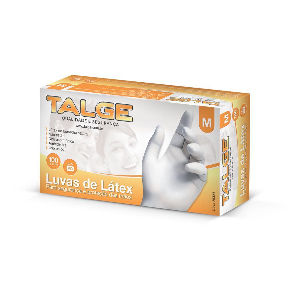 Luva Latex Talge Media C| 100 Un