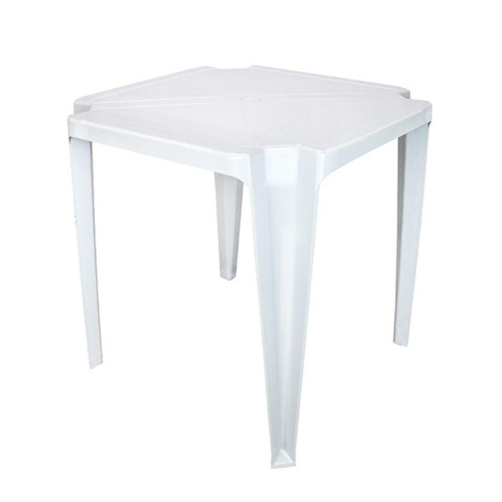 Mesa Monobloco Quadrada Branca Arqplast