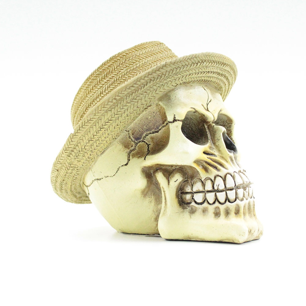 Mini Caveira Resina Hat Bege Urban