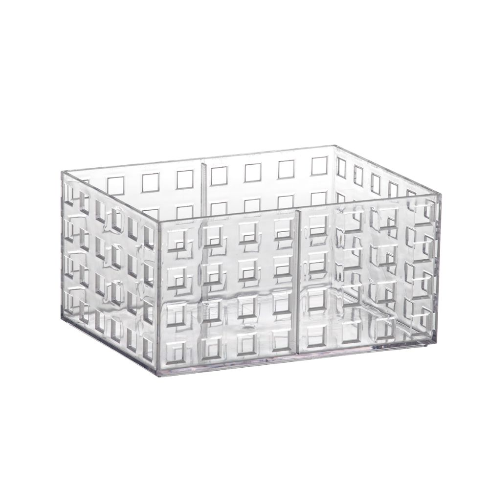 Org Empilhavel 16x11,5x8cm Cristal Quadratta