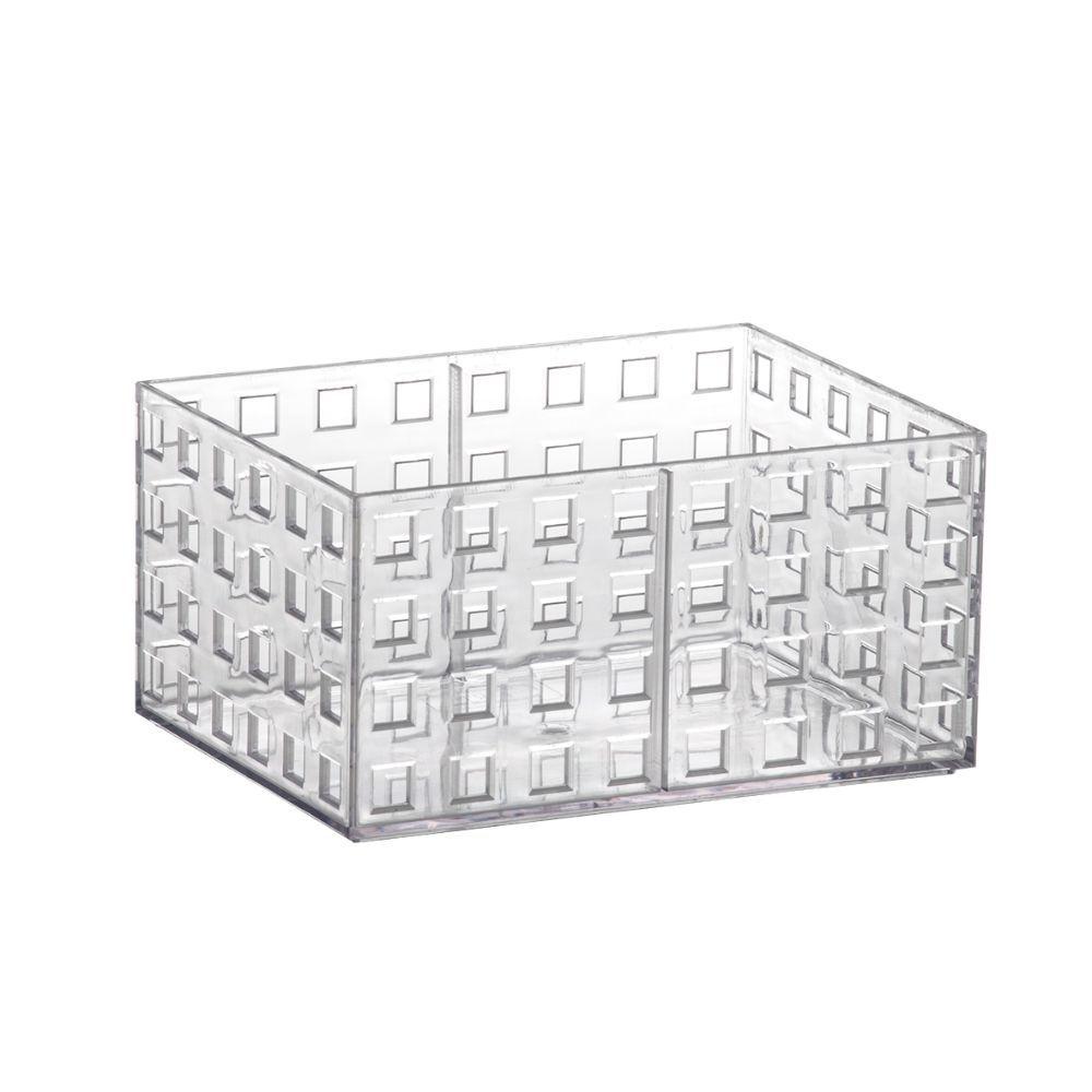Organizador Empilhavel 16X11,5X8Cm Cristal Quadratta