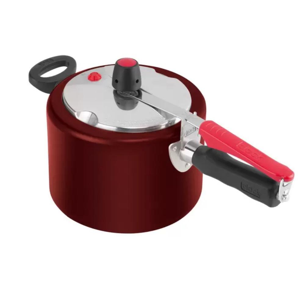 Panela Pressão 4,5l Clock Vermelha C/ Concha