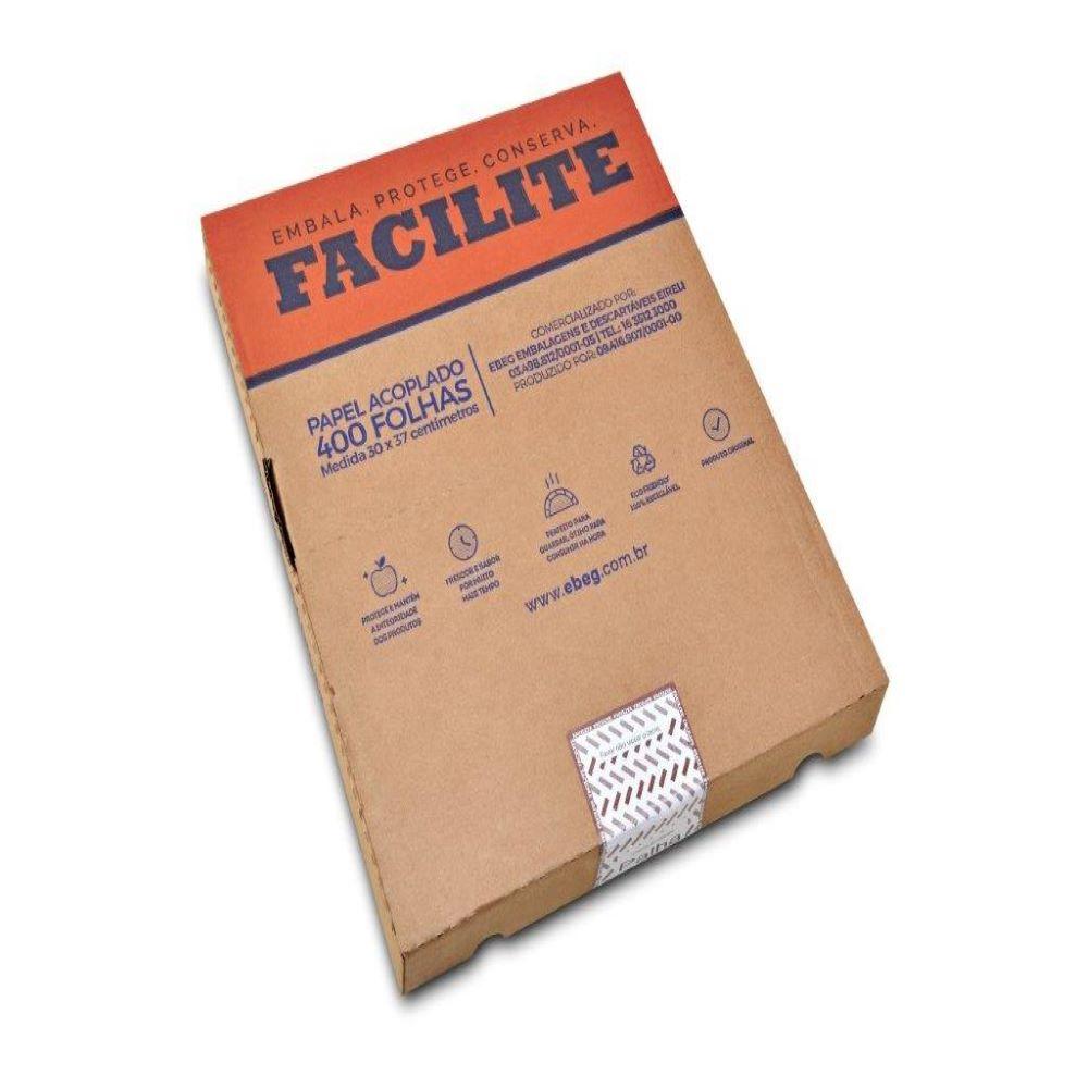 Papel Acoplado Box Facilite Palha 30x37