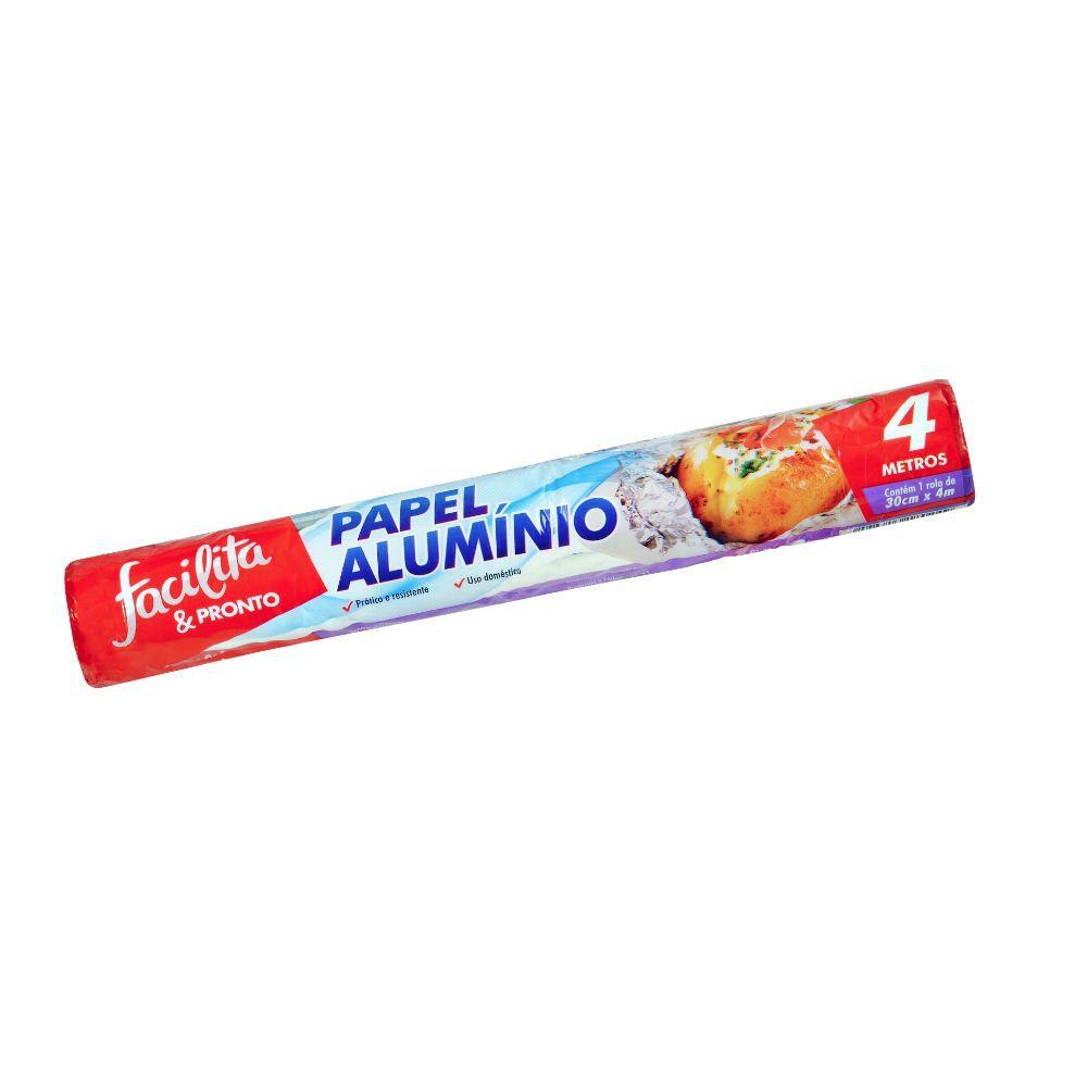 Papel Aluminio Facilita & Pronto 30 Cm X 4Mts